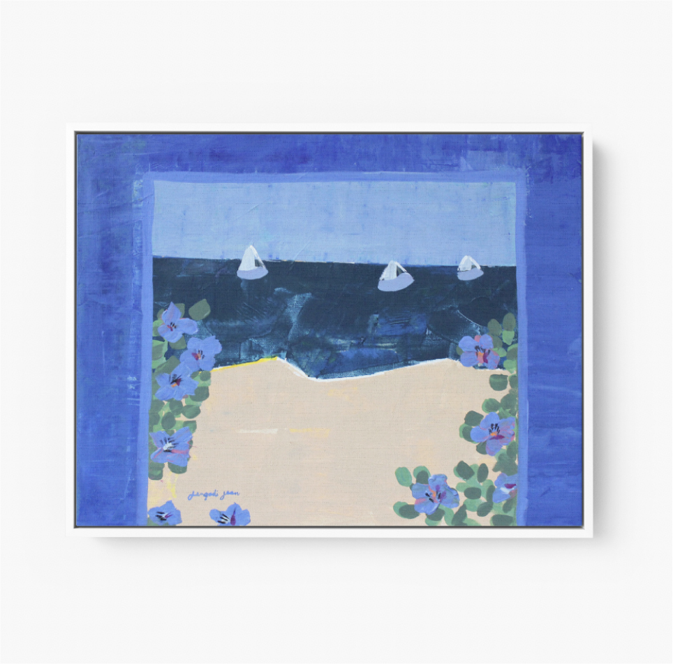 Blueberries by the Sea (20x24) 00111