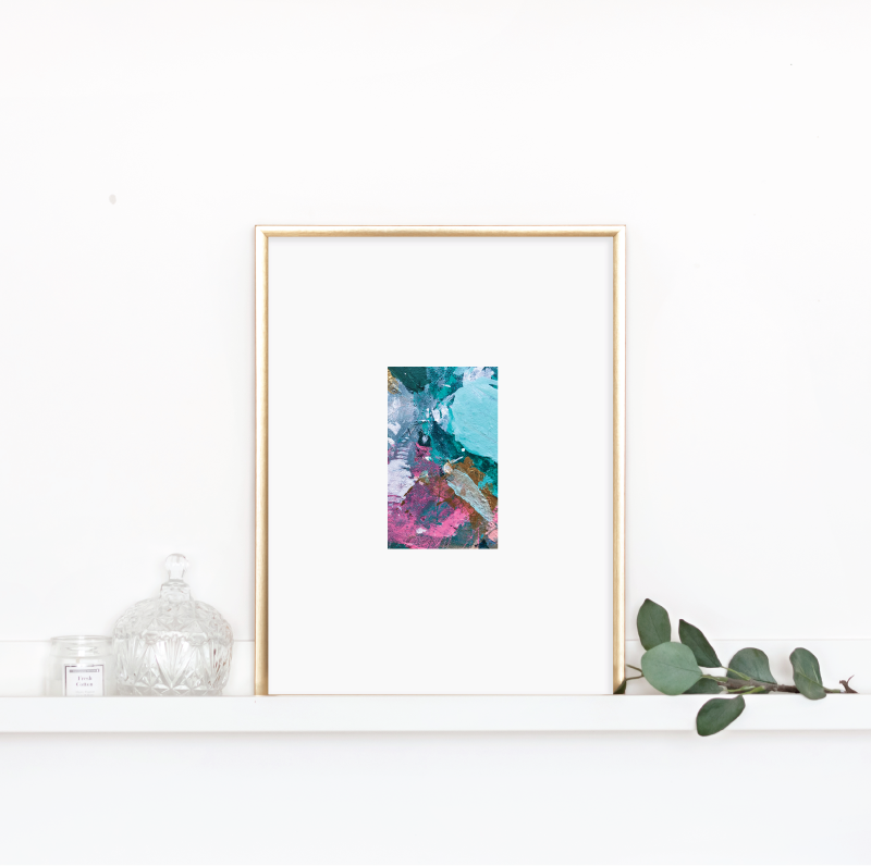 Matted Palette Print No. 4 00163