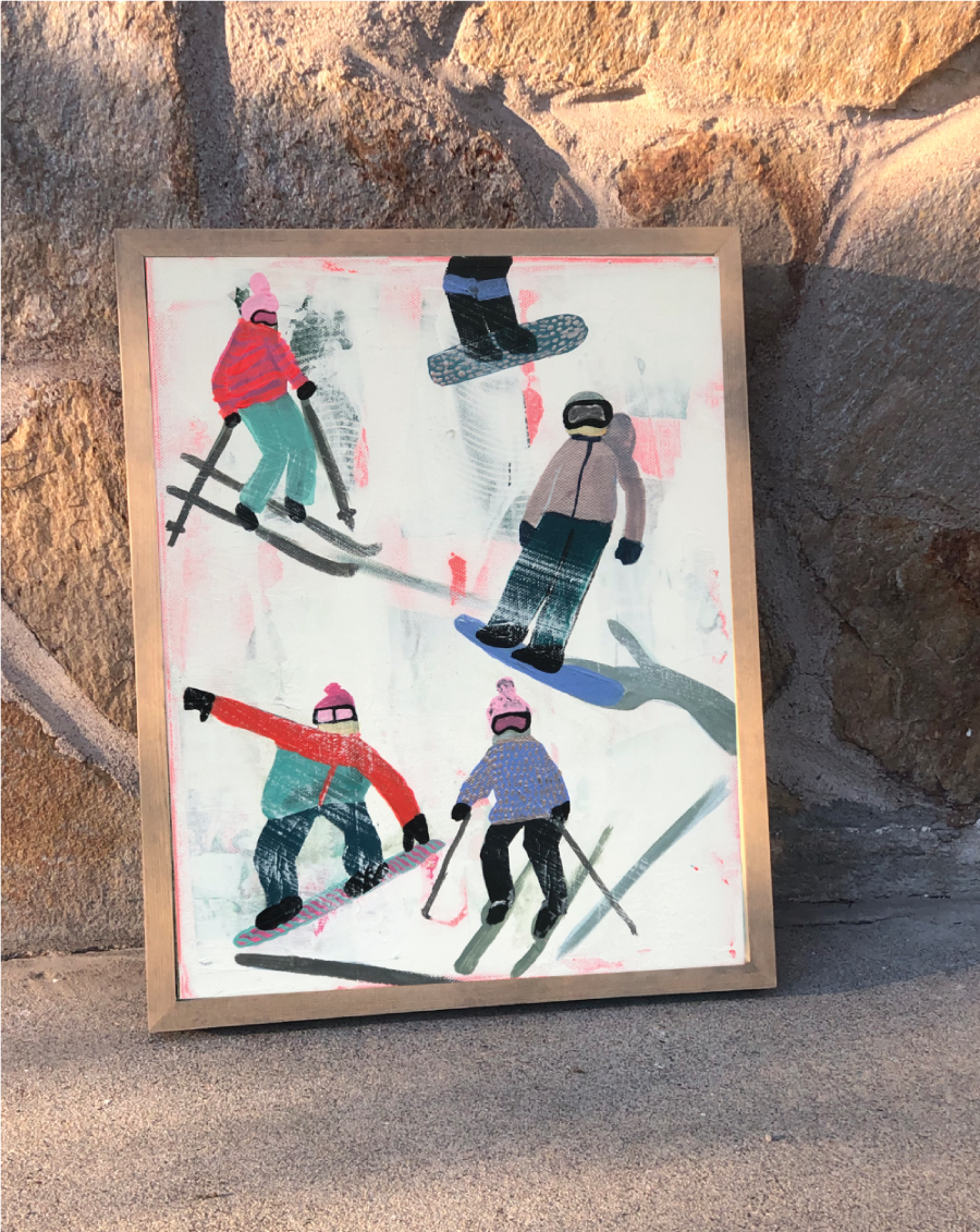 Slope Party Original (11x14) Framed No. 3 G2ZNECK1