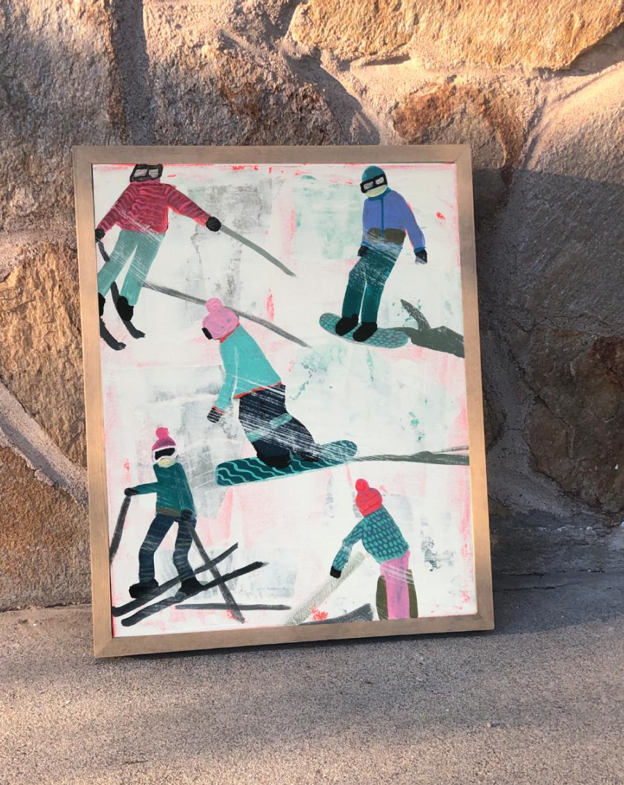 Slope Party Original (11x14) Framed No. 1 9MUMH1UZ