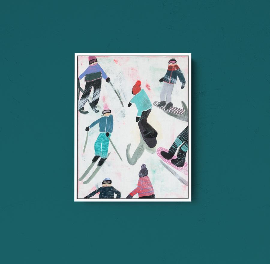 Slope Party Original (11x14) Framed No. 4