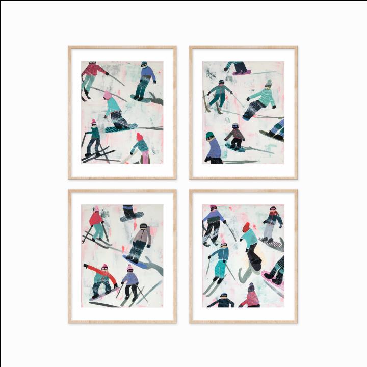 Slope Party Prints - Set of 4 M9BA2HFX