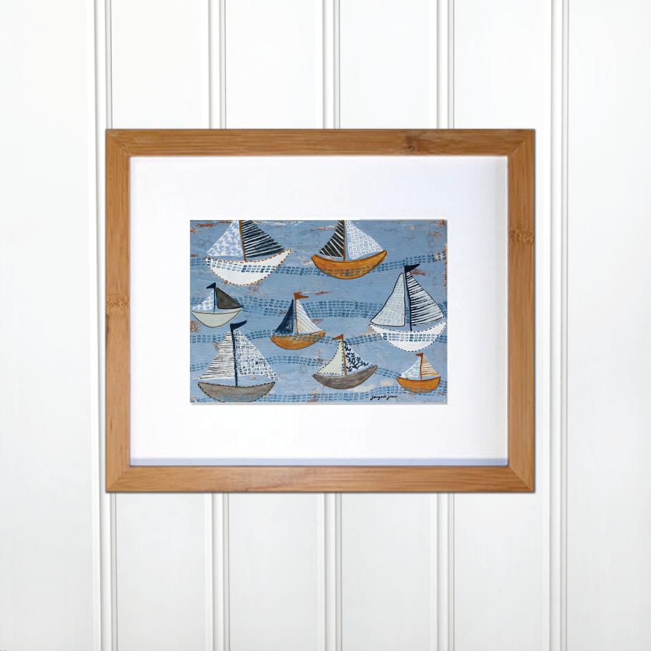 Light Blue Sailboats 00001