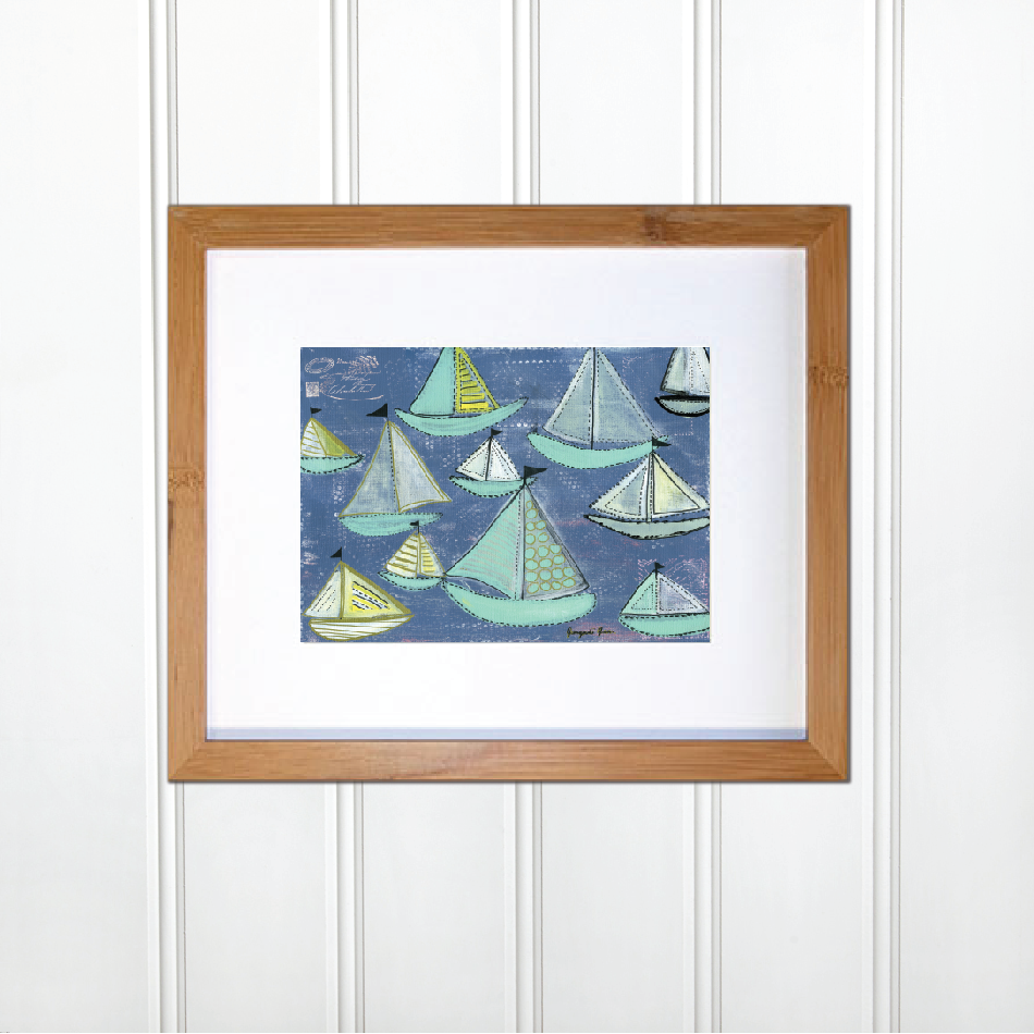 Bright Blue & Seafoam Sailboats 00002