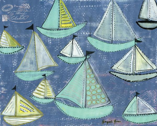 Seafoam Boats (16 x 20) 00014