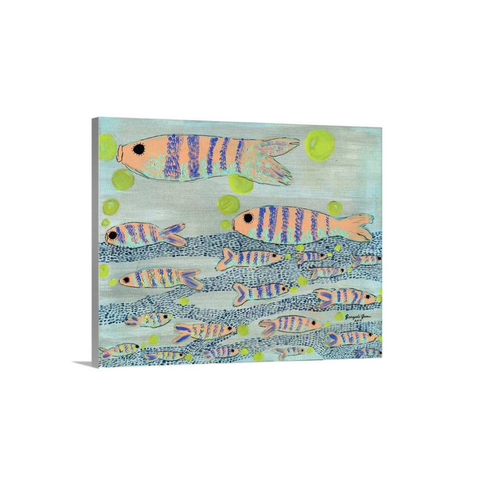 Fishy, Fishy Cross My Ocean Canvas Reproduction (16 x 20) 00024