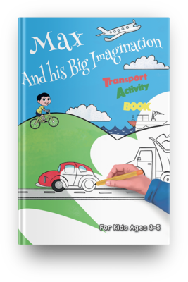 Transport Activity Book (Age 3-5) - PDF Instant Download
