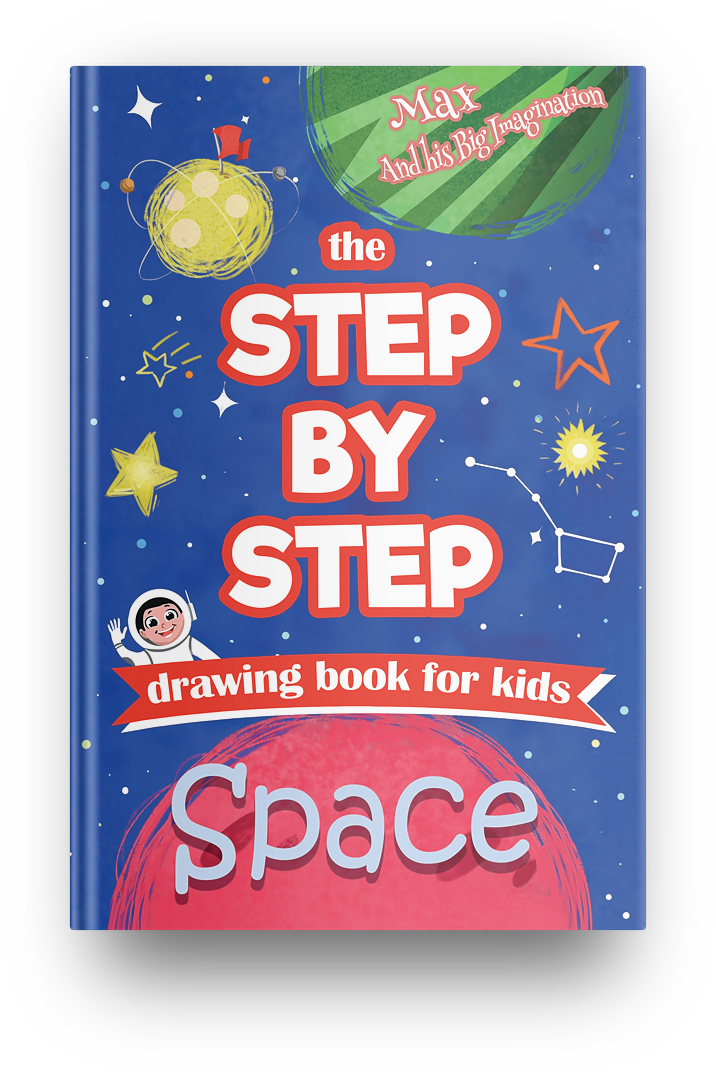 The Step by Step SPACE drawing books for kids - PDF Instant Download