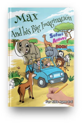 Safari Activity Book - (Age 3-5) PDF Instant Download