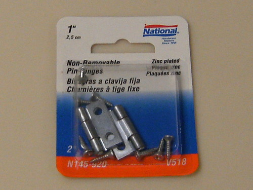 """National Removable Pin Hinges 1"""""""