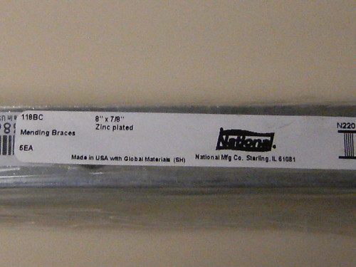 """National Mending Braces 8"""" by 7/8"""""""