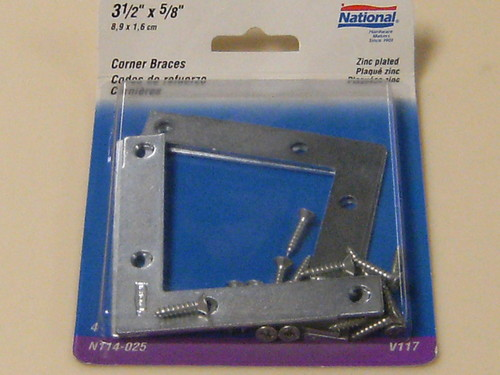 "National Corner Braces 3-1/2"" by 5/8"""