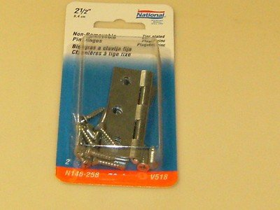 National NON Removable Pin Hinges 2-1/2
