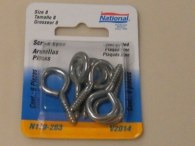 National Screw Eyes Size 8