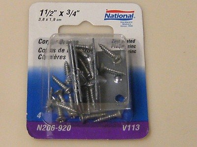 National Corner Braces 1-1/2