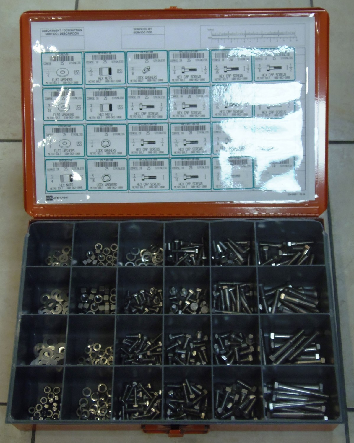 FASTENER ASSORTMENT 18-8 STAINLESS STEEL