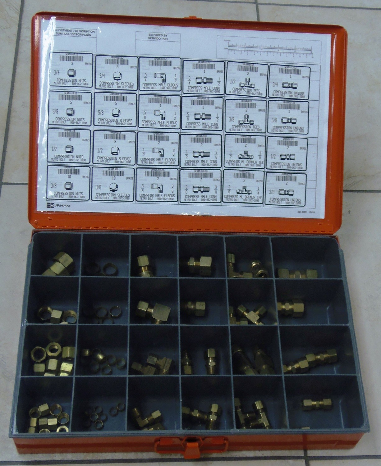 LARGE BRASS COMPRESSION FITTINGS ASSORTMENT