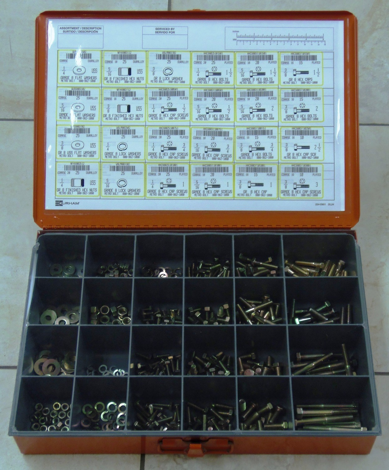 GRADE 8 FASTENER ASSORTMENT