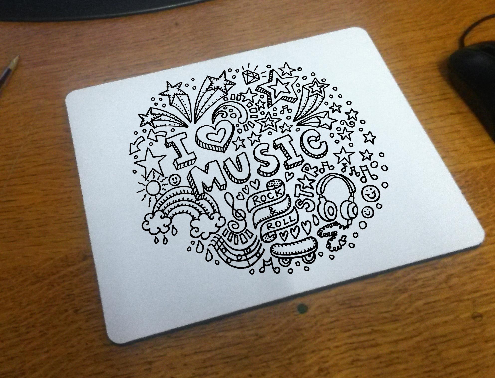 Colour in mouse mat i love music themekits jeuxipadfo Gallery