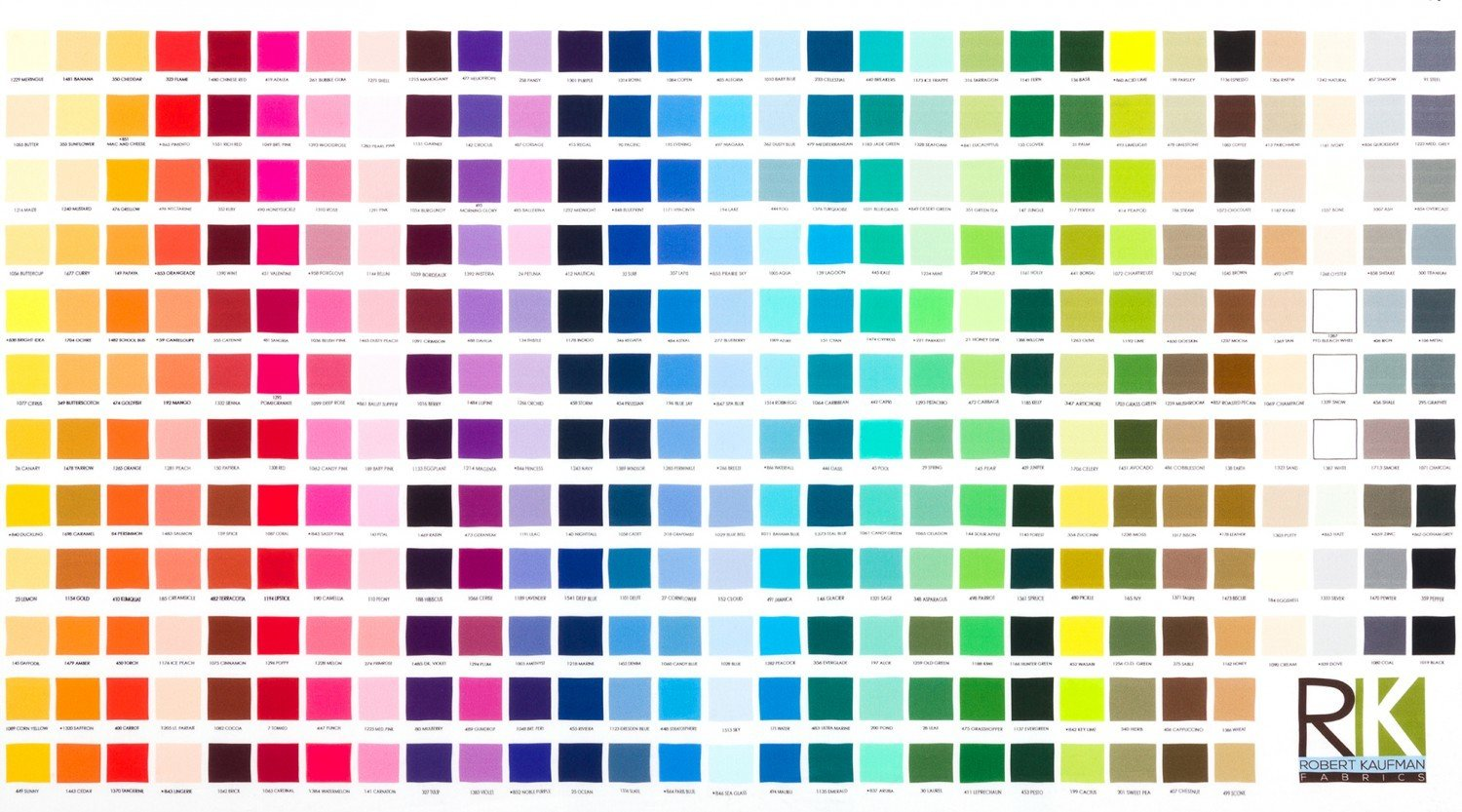 Fabric colour chart panel cotton kona fabric colour chart panel cotton nvjuhfo Images
