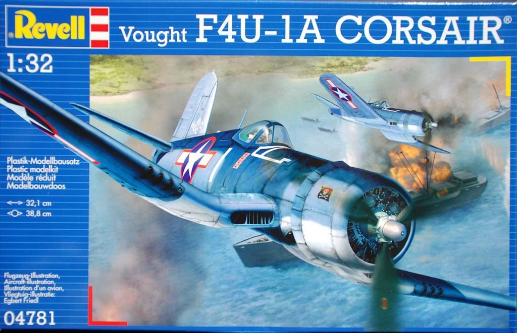 F4u1a 132 Model Kit Scale Plane 04781 1:32 Revell Vought F4u-1 Corsair Avion
