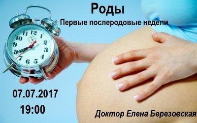 """Запись вебинара """"Роды. Первые послеродовые недели"""" 00015"""