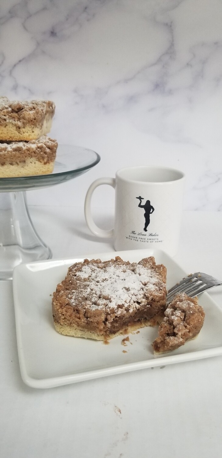 """No Sugar Added NY Apple Crumb Cake Baked To Order  2 Serving Size 4""""x 4""""  Box of 6 Delicious Gourmet Pastry Desserts Fresh To Your Door"""
