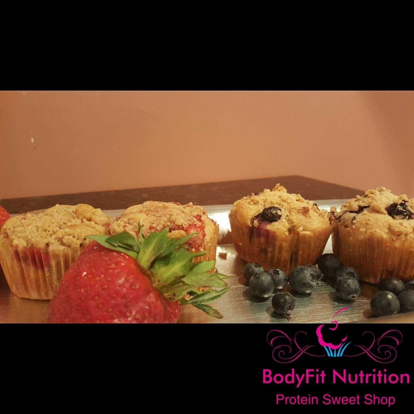 Fit Muscle Muffins - Blueberry