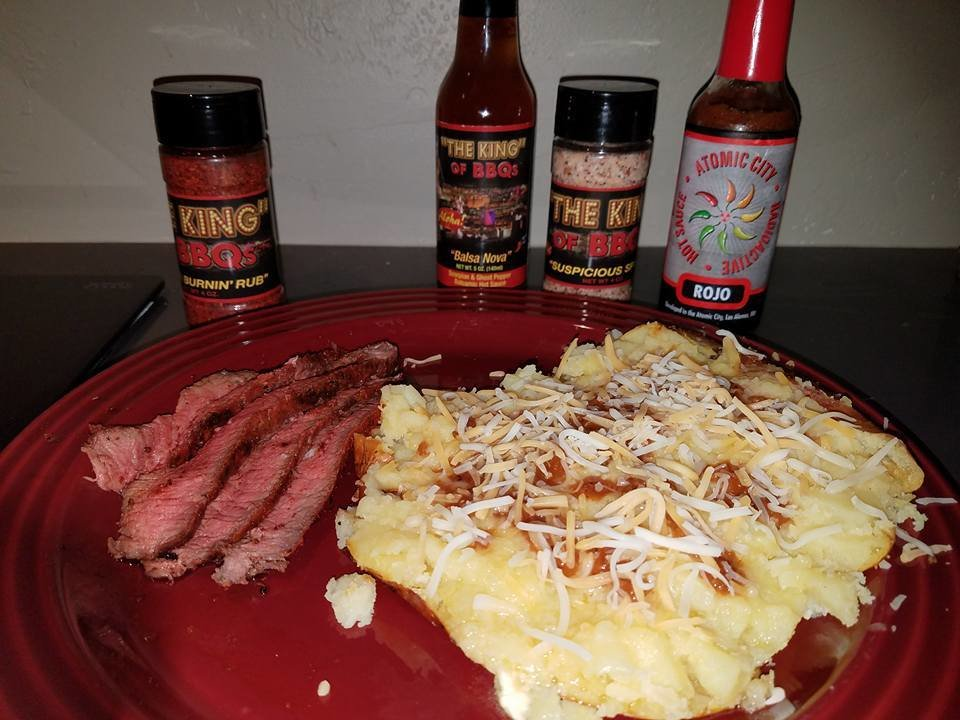 Spicy Flat Iron Steak with Sweet and Spicy Yukon golds