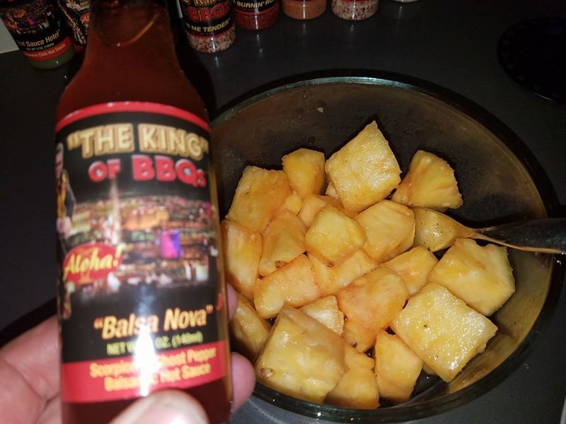 """Balsa Nova"" with Fresh Pineapple chunks"