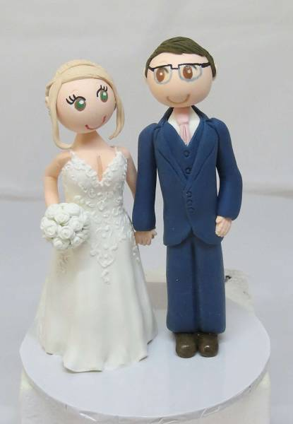 Standing Couple on round base board