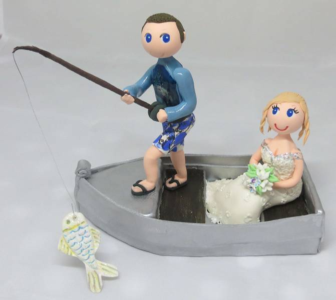 Tinny Boat -1 x fishing rod included Approx 20cm length