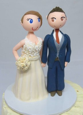 Standing Same Sex Female Couple on round base board