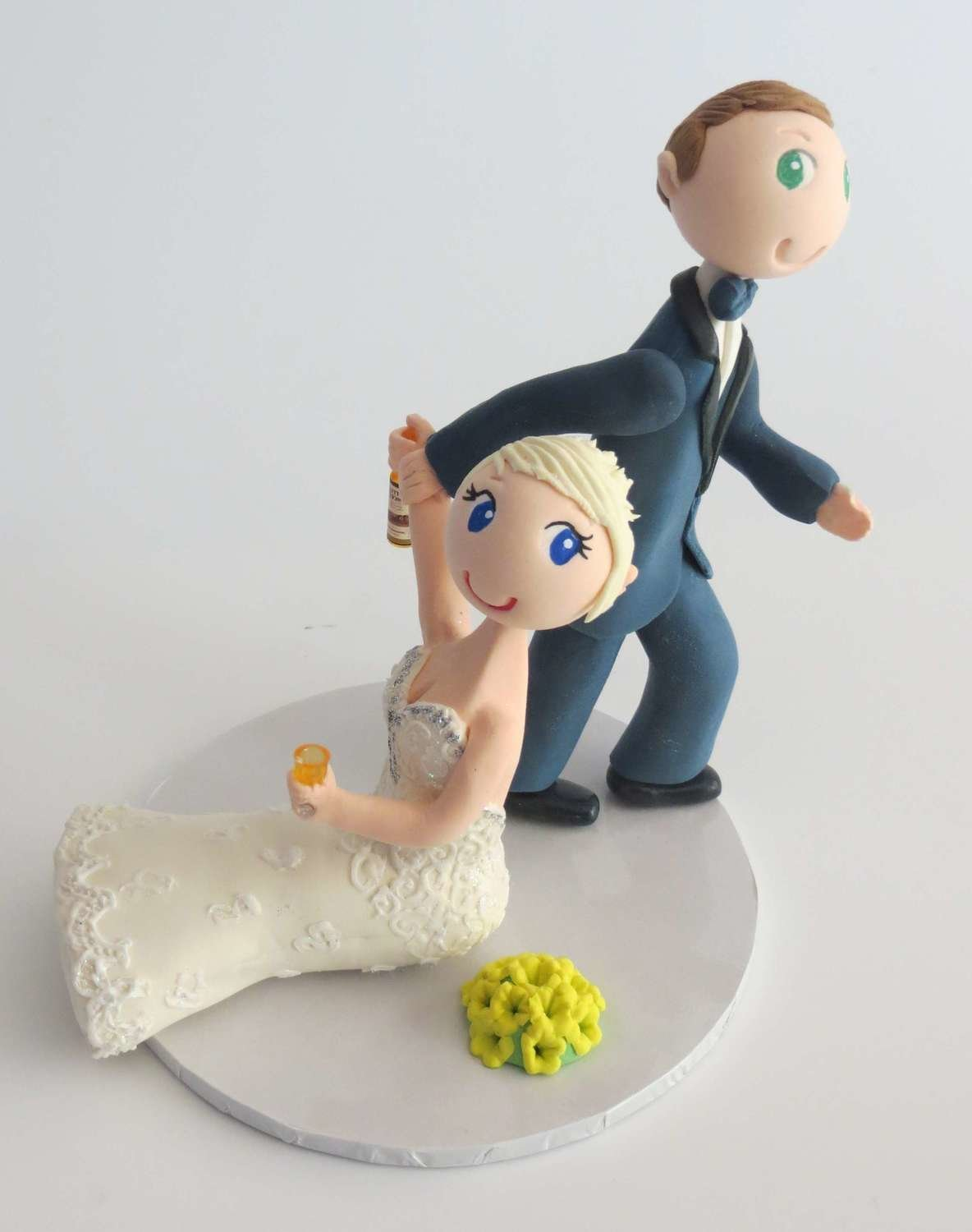 Groom Dragging Bride style on base board
