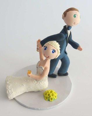 Groom Dragging Bride style on base board