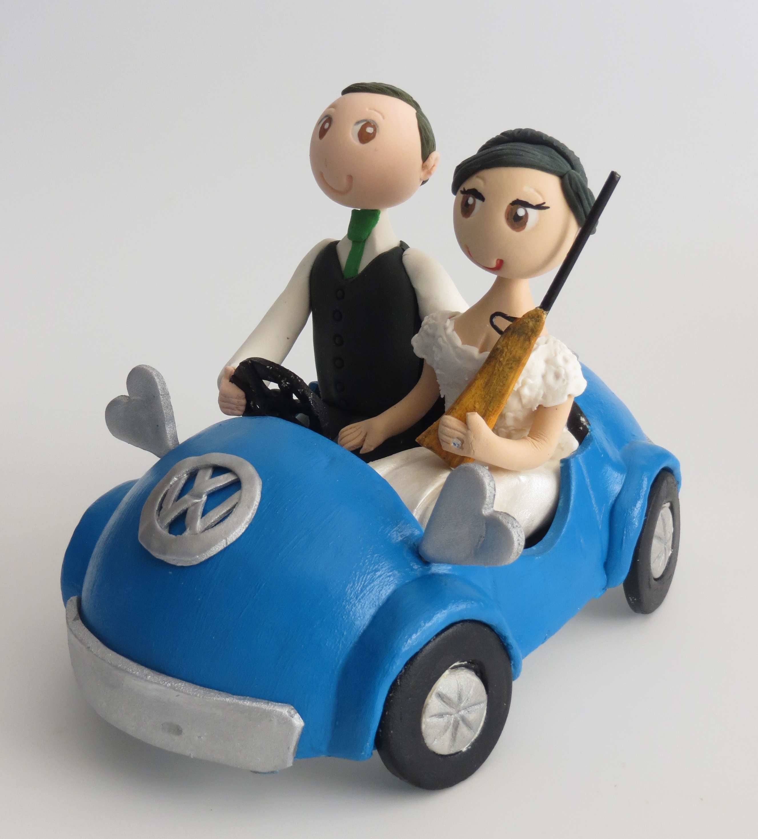 Bride & Groom in my style Car  Approx 20cm length