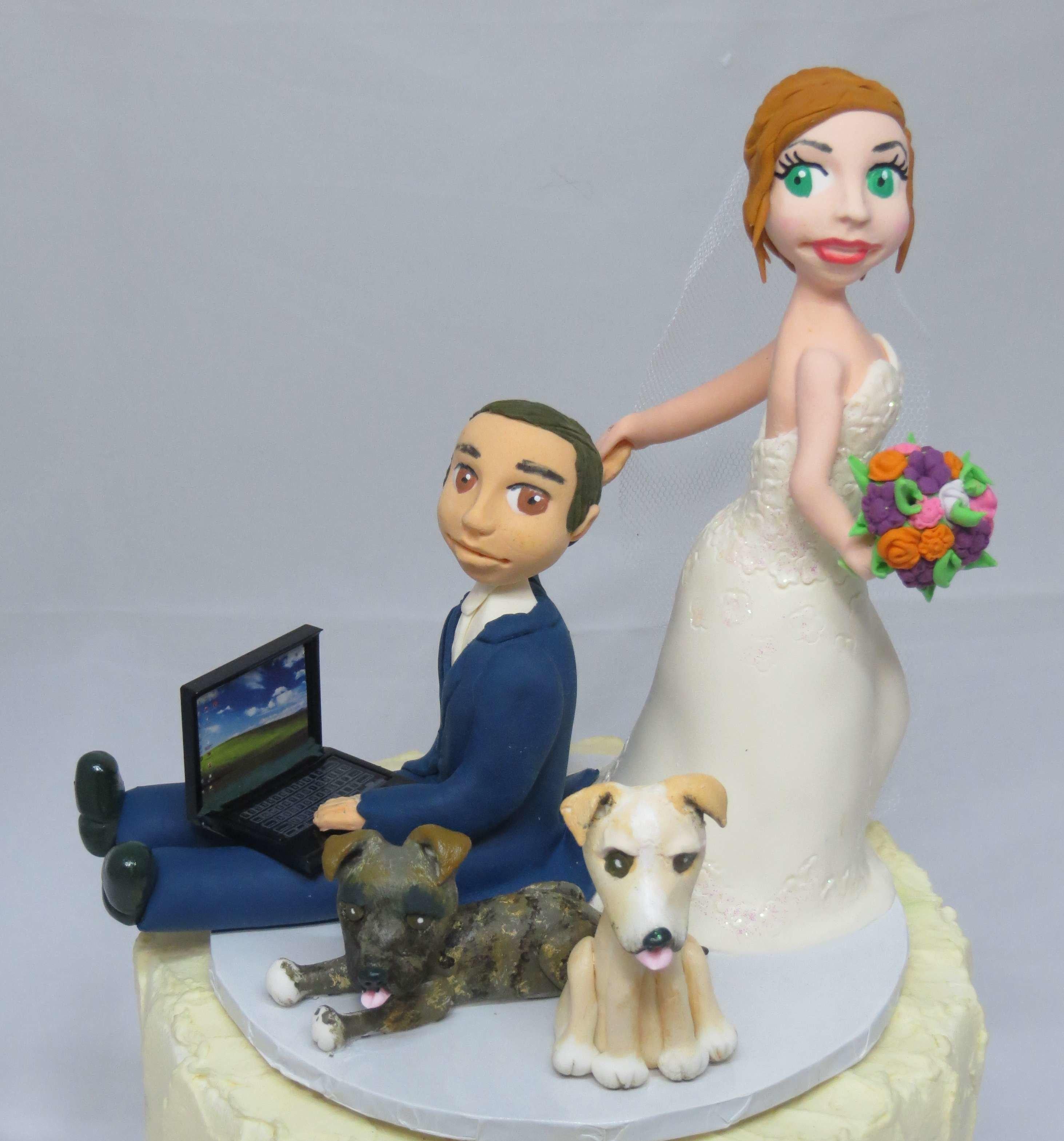 Bride Dragging Groom style on base board
