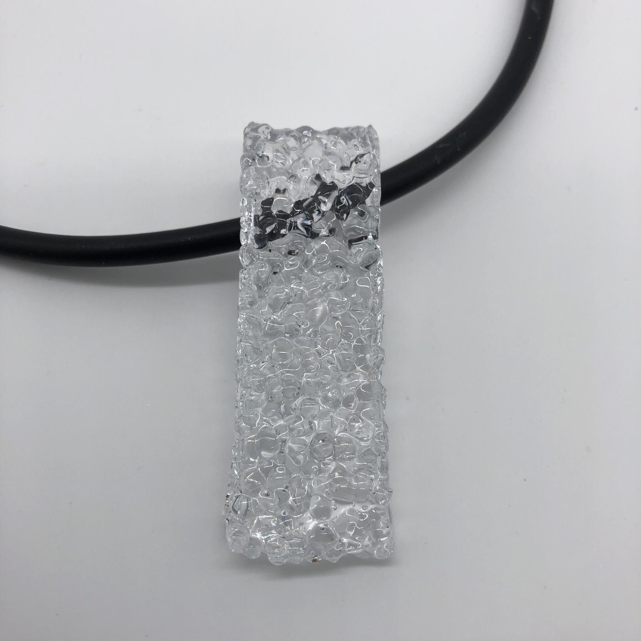 Anhänger Kunststoffgranulat transparent - beidseitig tragbar 25177