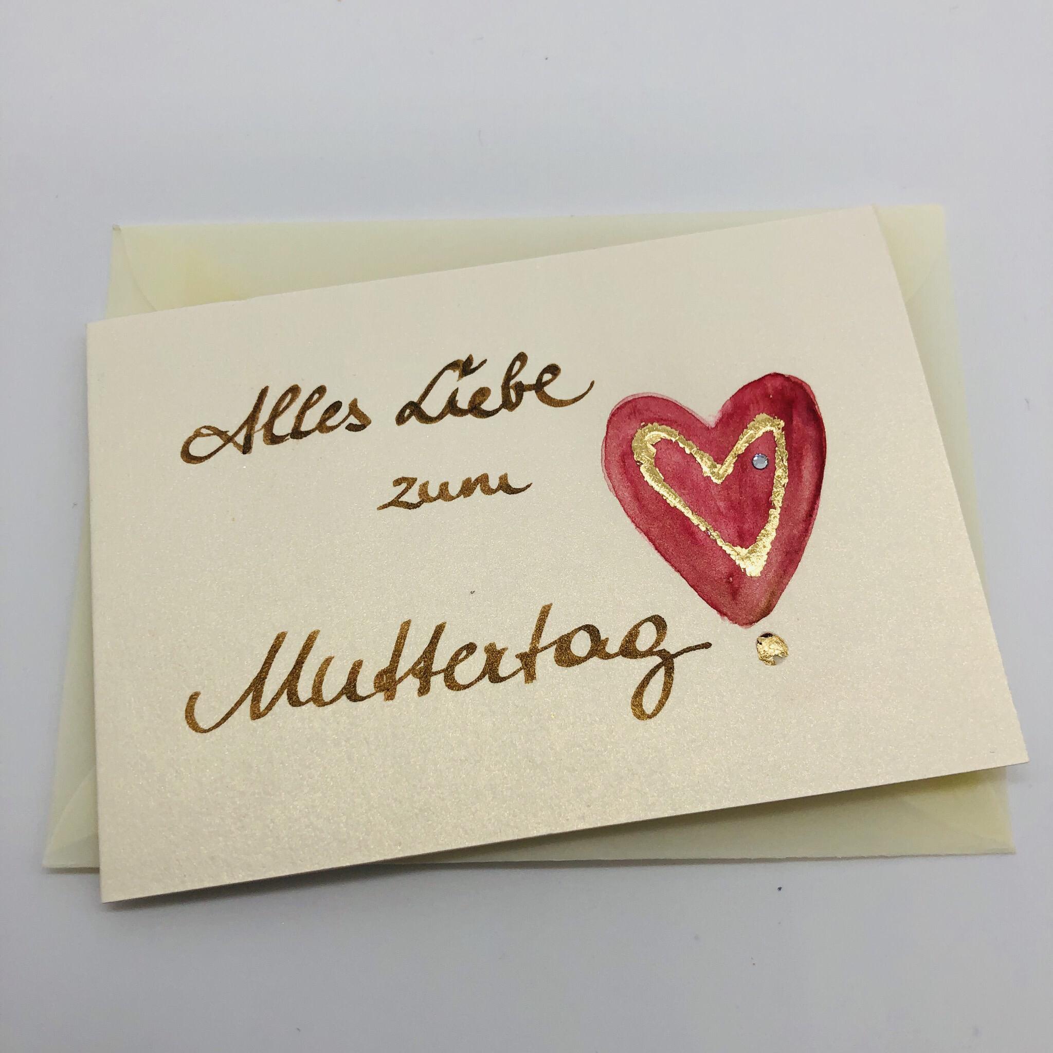 """Billett """"handmade"""" klein - Alles Liebe zum Muttertag! 25183"""