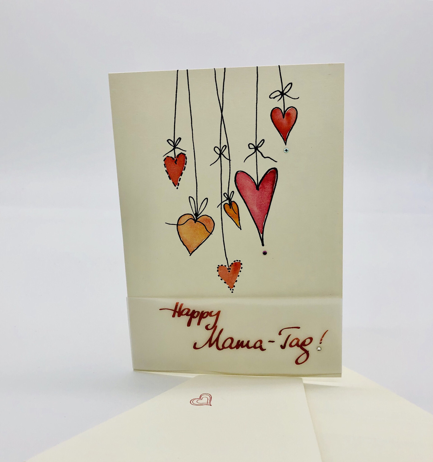 "Billett ""handmade"" Muttertag - Happy Mama-Tag!"