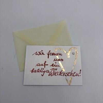 "Billett ""handmade"" Mini - Herz"