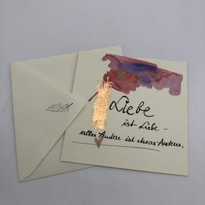 """Billett """"handmade"""" groß - Liebe"""