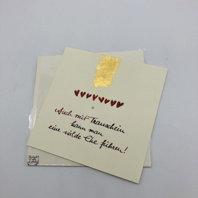 """Billett """"handmade"""" groß - Mit Trauschein ..."""