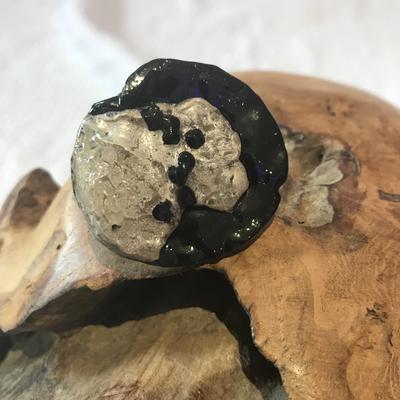Ring schwarz/silber