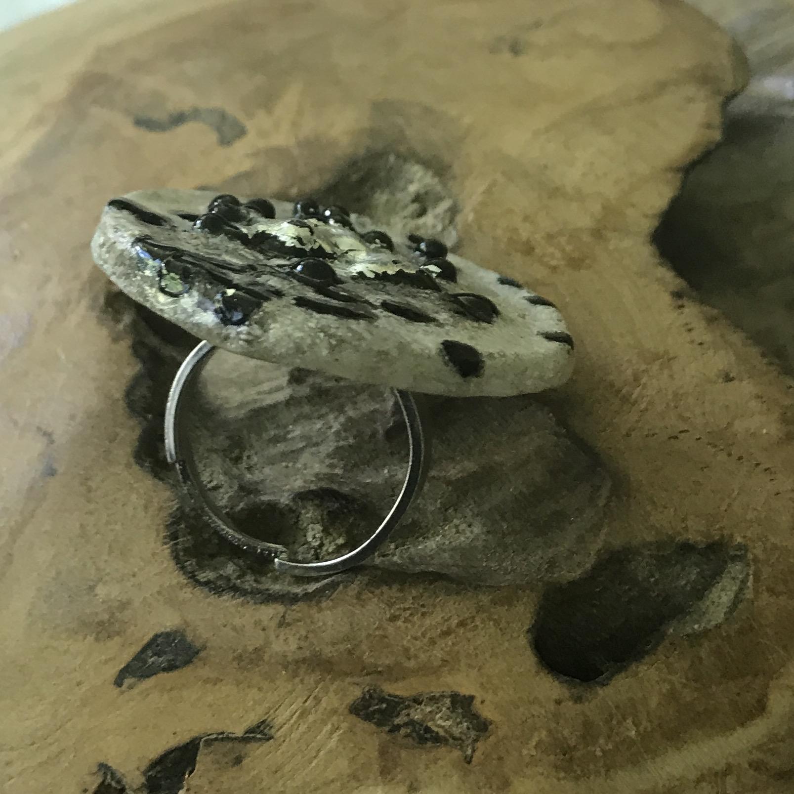 Ring silber/schwarz