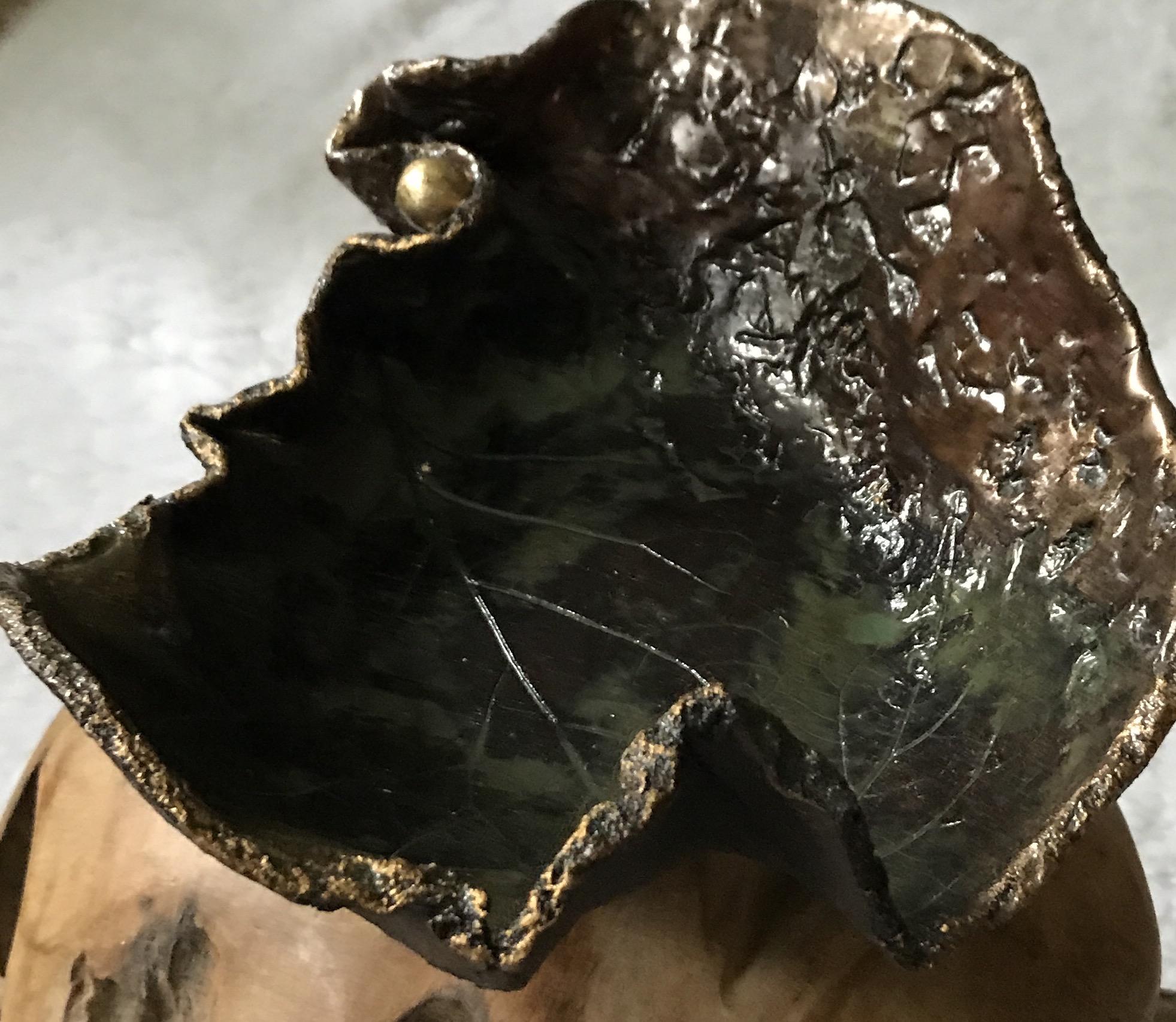 Keramikschale braun/gold 00085