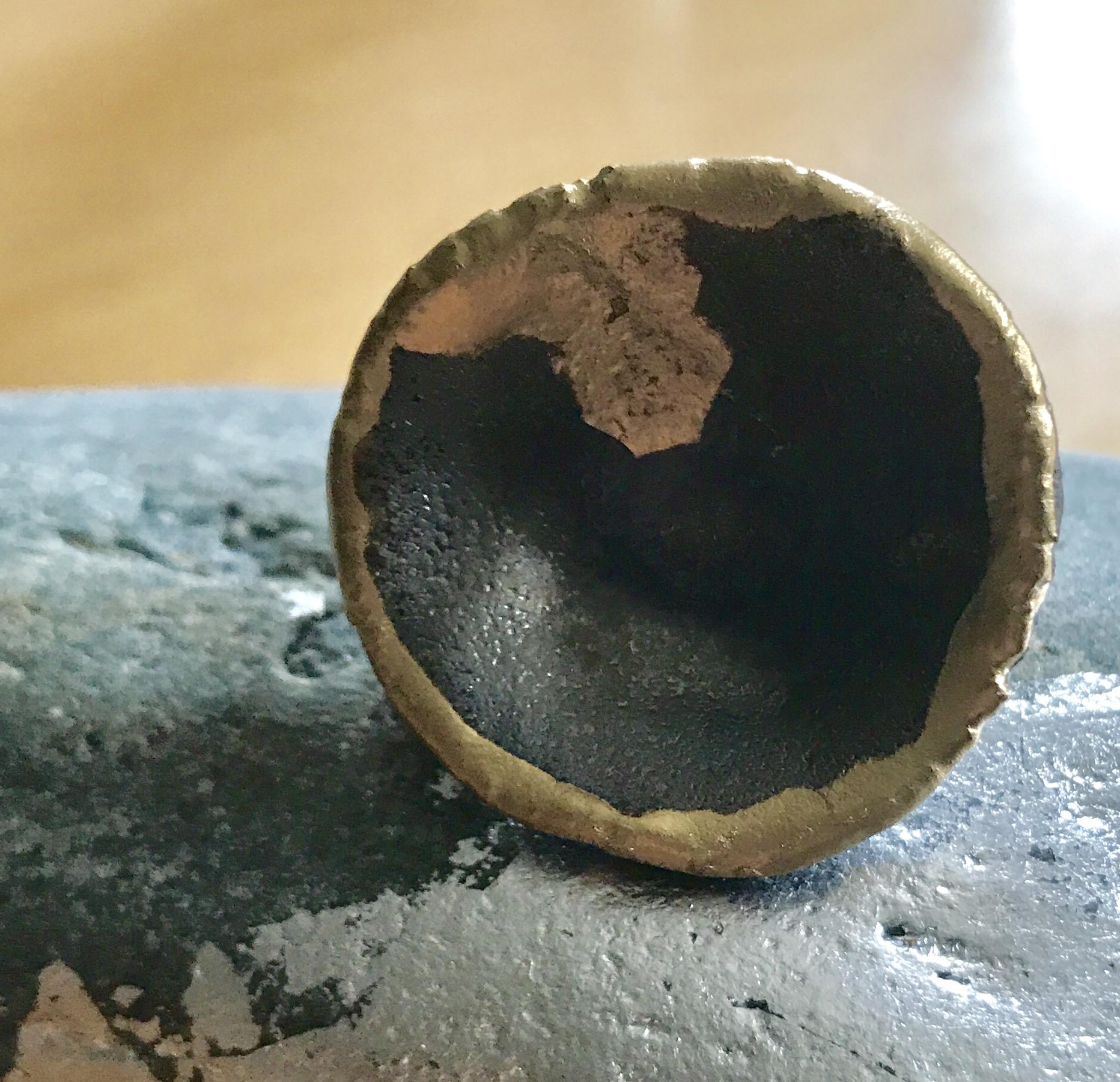 Ring Keramik mit Golddetails