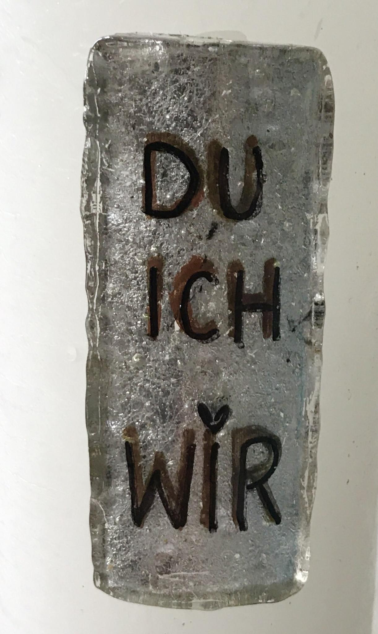 Kerze mit Platte DU/ICH/WIR 00125