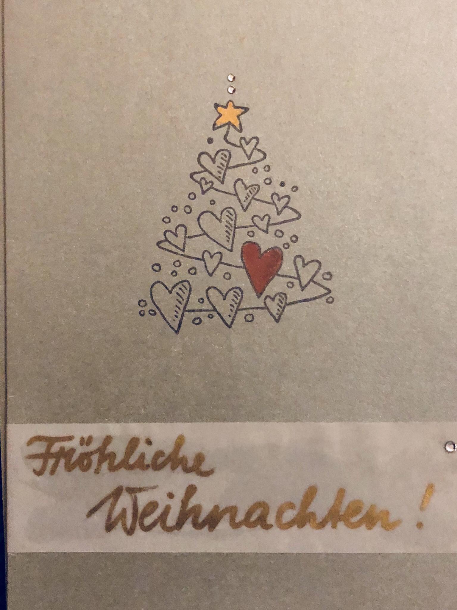 Weihnachtskarte silber 00165