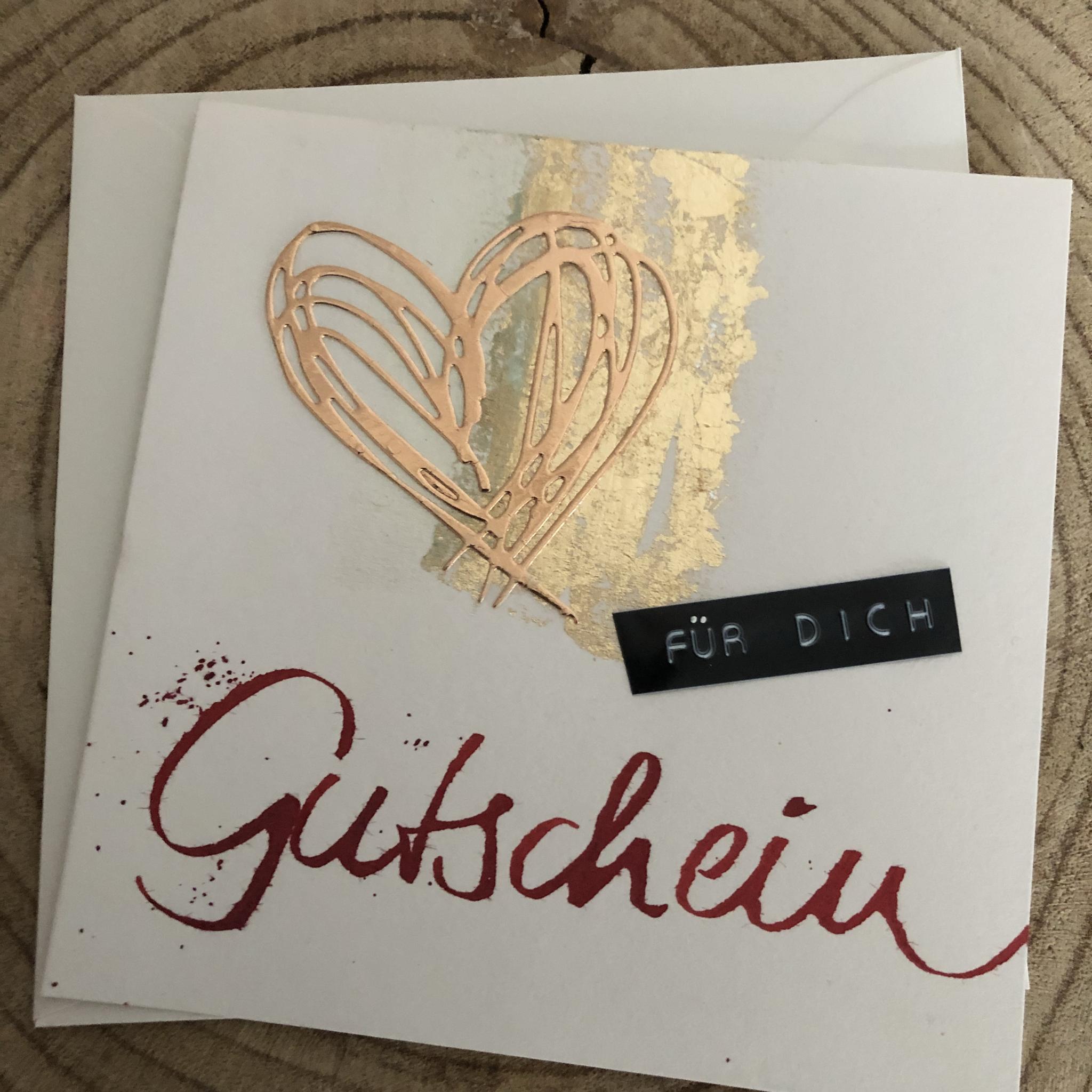 Karte - Gutschein mit Herz